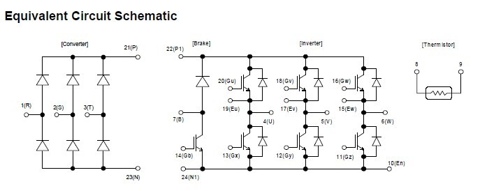 7MBR10SA120 block diagram