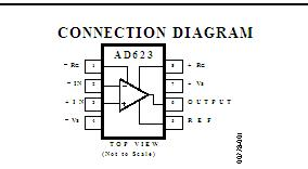 AD623ARZ CONNECTION DIAGR