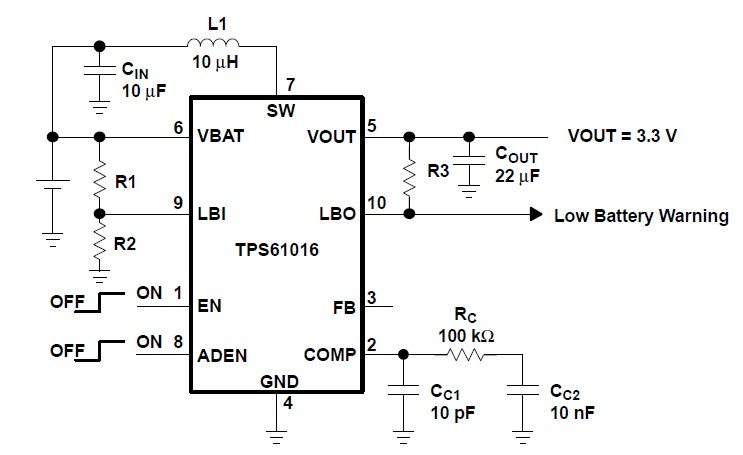 TPS61020DRCR application circuit