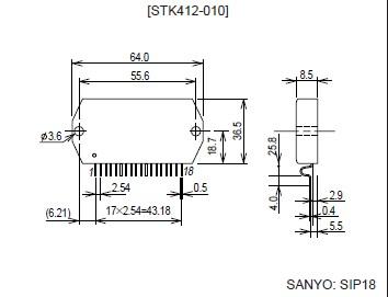 STK412-240 dimension