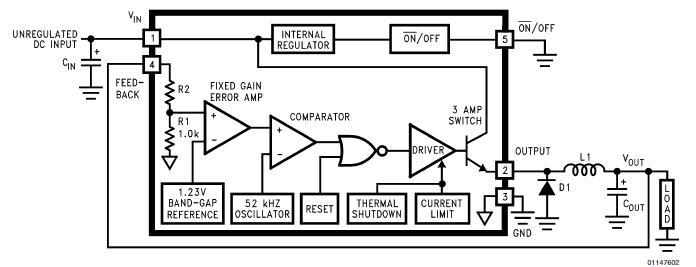 LM2576SX-5.0 block diagram