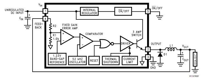 LM2576SX-3.3 block diagram