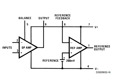 LM10CN/NOPB pin connection