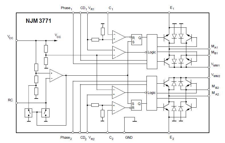 NJM3771FM2 block diagram