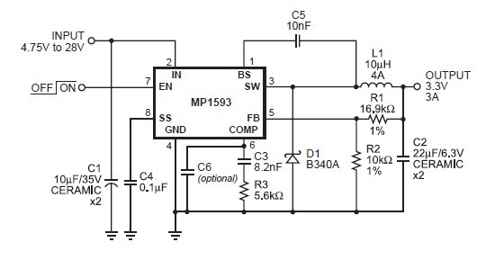 MP1593DN circuit diagram