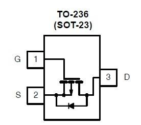 SI2319DS-T1-E3 top view