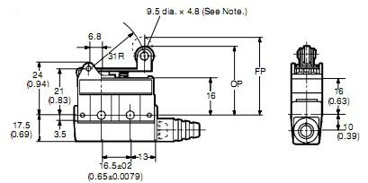 SHL-W255 package dimensions
