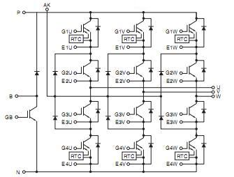 CM75YE13-12F circuit diagram