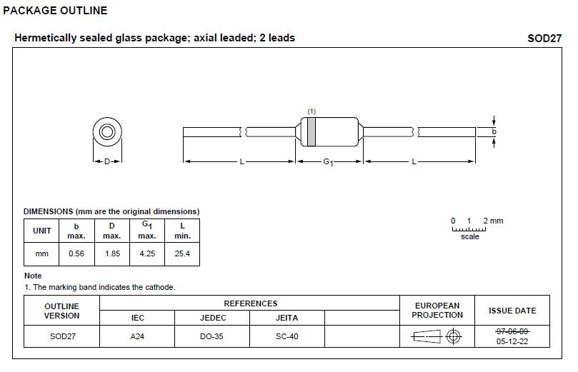 1N4148 package outline