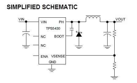 TPS5430DDAG4 schematic diagram