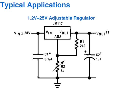 LM317T on current limiter circuit regulator on