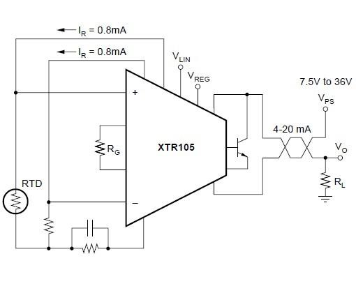 XTR105U block diagram