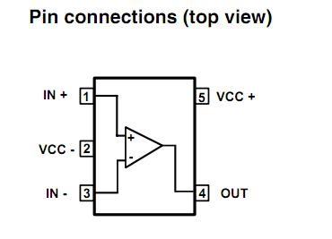 LMV331ILT pin configuration