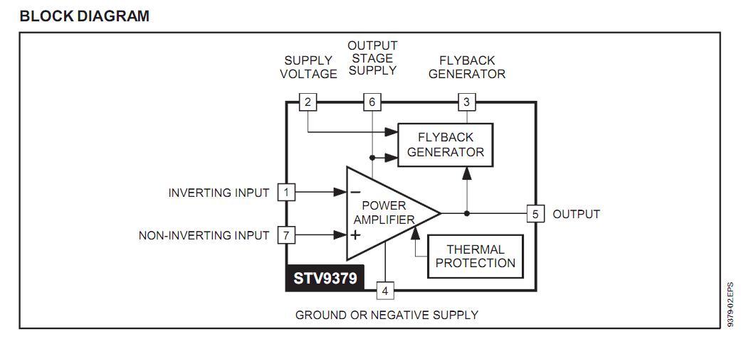 STV9379 blcok diagram