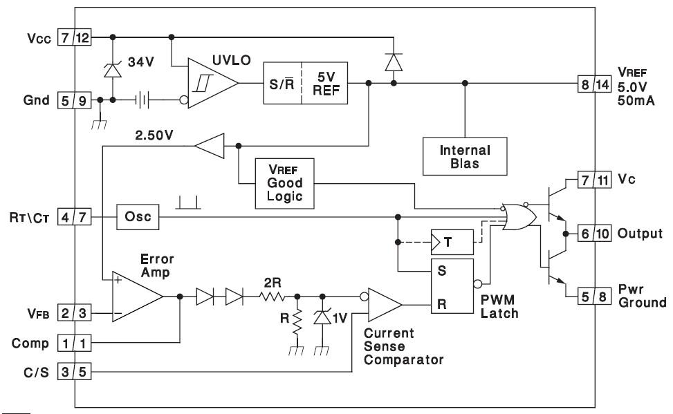 Микросхема 3842 представляет собой ШИМ (широтно-импульсный) преобразователь...