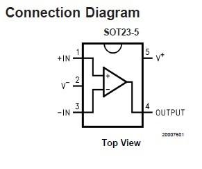 LM321MFX connection diagram