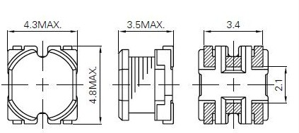 CR43NP-3R3MC dimensions