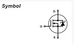 IRF540N symbol