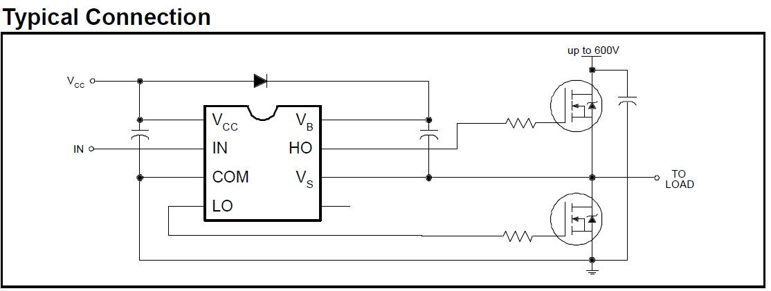 IR2111 typical connection.