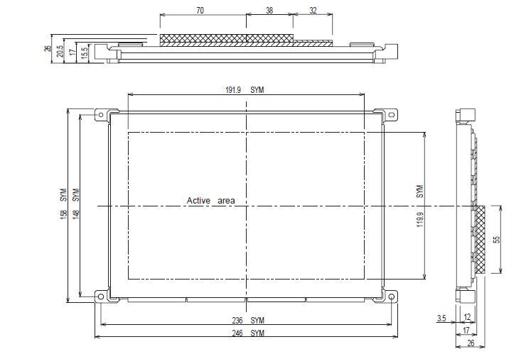 LJ64EU34 Outline Dimension