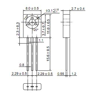 2SB649AC dimensions