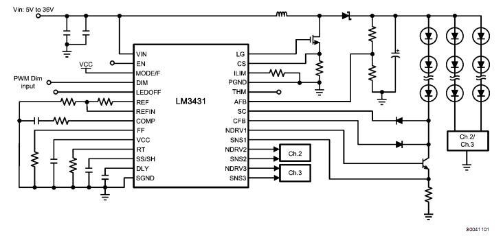 LM343H block diagram