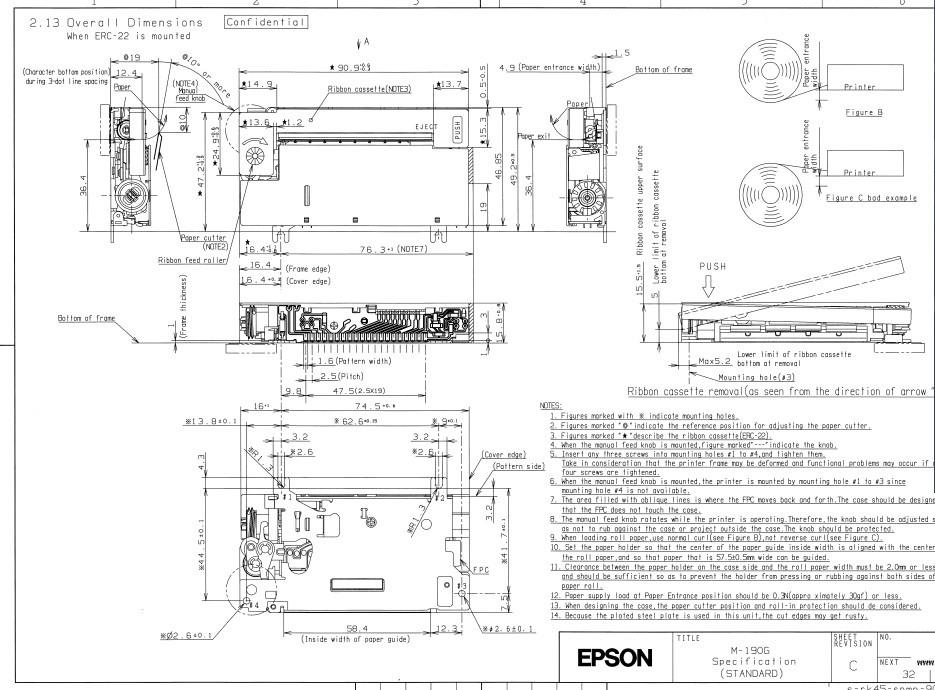 M-190 dimensions