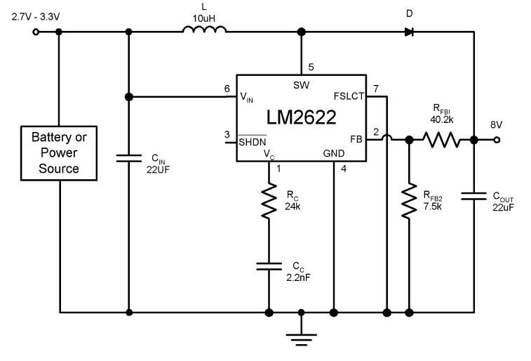 LM2621MM/NOPB block diagram