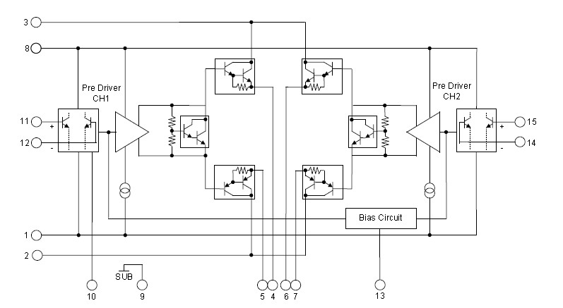 STK433-130 block diagram.