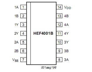 HEF4001BT circuit diagram