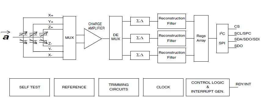 LIS3LV02DLTR block diagram