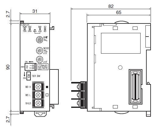 CJ1W-CLK21-V1 block diagram