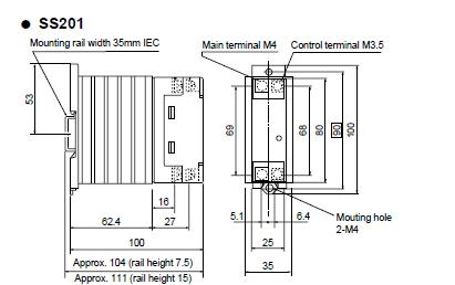 SS201H-3Z-D3 package dimensions