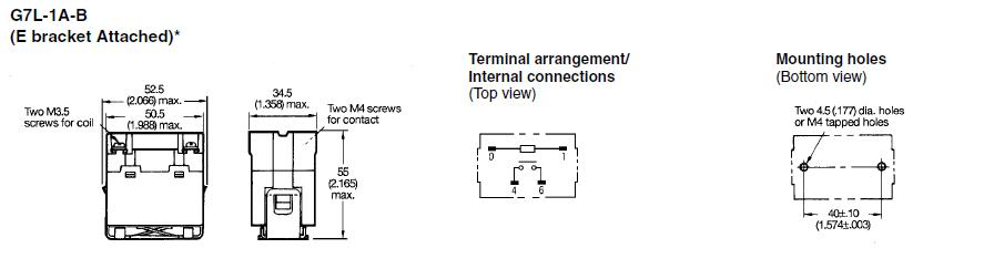 G7L-1A-B package dimensions