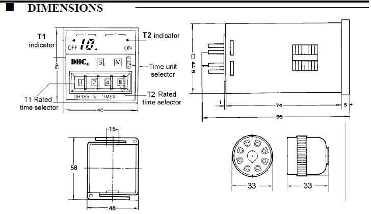 DH48S-S package dimensions