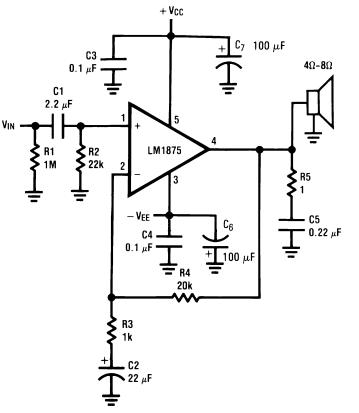 The LM1875T is a monolithic power amplifier offering very low distortion and high quality...