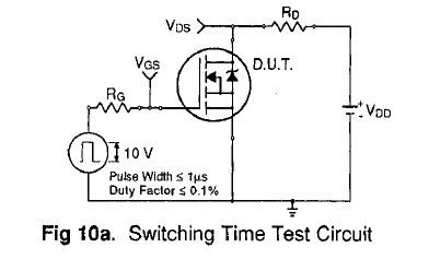 IRC540 test circuit