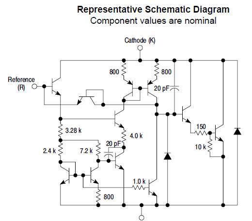 TL431BVDR2G Representative Schematic Diagram