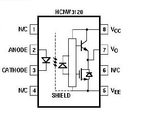 HCNW3120 block diagram