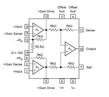INA102KP block diagram