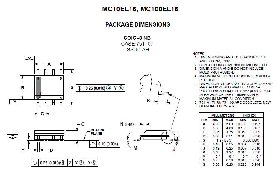 MC10EL16DR2 block diagram