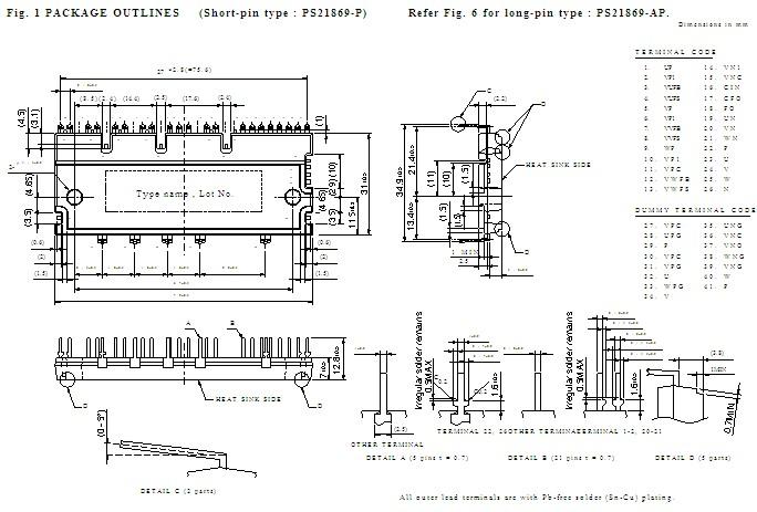 PS21869-AP block diagram