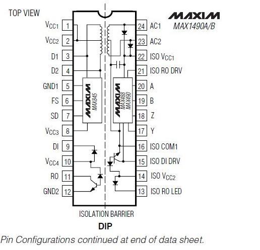MAX1480ACPI block diagram