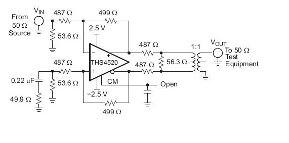 THS4520RGTT block diagram