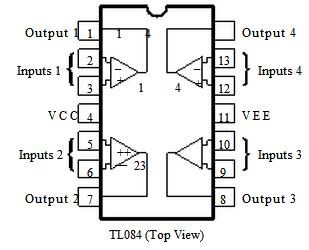 TL084CN JFET INPUT OPERATIONAL  LIFIERS on product information