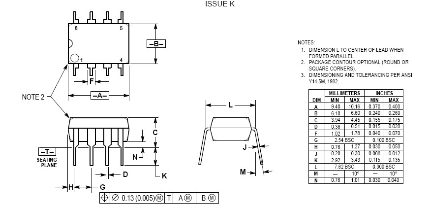 MC34063A dimension
