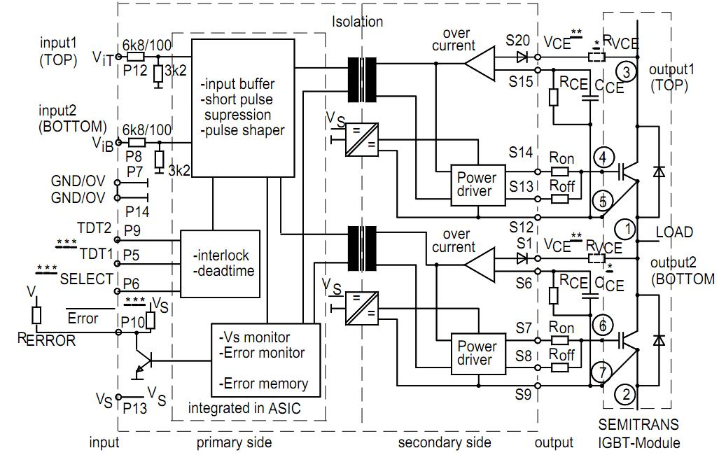 SKHI22AH4R SEMIKRON Hybrid Dual IGBT Driver SKHI22AH4R besides 547750373401734364 as well Relay Switch Circuit besides Three Phase Inverter Circuit further Io 7. on igbt driver circuit diagram 7