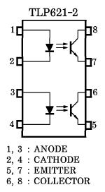 TLP621-2 pin configuration