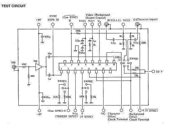 NJM2207 Test Circuit