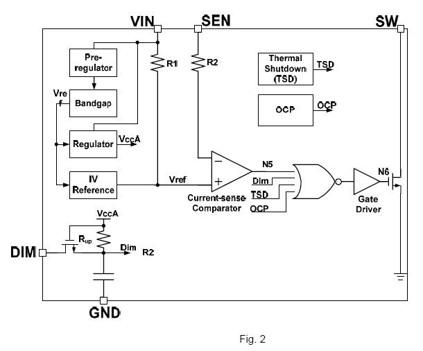 MBI6655 block diagram